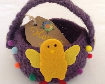 Easter Basket   Crocheted Easter Basket   Basket Small   Easter Basket