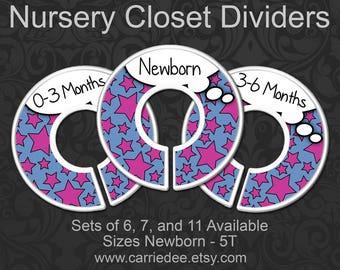 Comic Book Nursery Closet Dividers, Pink & Blue Baby, Clothes Organizers, Baby Shower, Baby Girl, Nursery Stars, Superhero