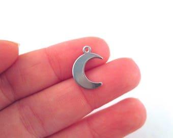 Stainless Steel Crescent Moon Charms, G3