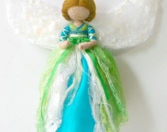 Morning Glory Flower Fairy: Waldorf Inspired Silk & Wool Fairy (Love + Affection)