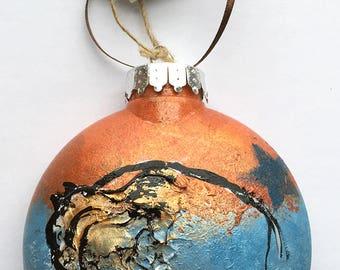 Buffalo Ornament - Hand Painted Christmas Ornament - Southwest Colors - Colorado Buffalo - Americana Buffalo _ Buffalo Gift - Buffalo NY