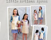 Little Artisan Apron Pattern - make your little one their own crossover apron so they can create and have fun!