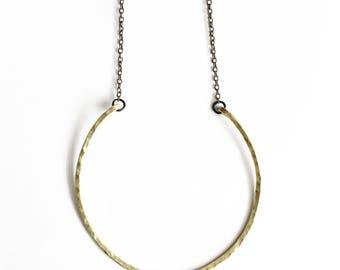 Circle Brass Necklace