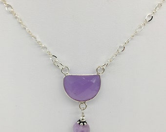 Lavender Amethyst Drop Necklace