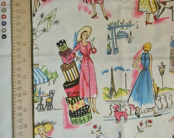 MICHAEL MILLER Novelty quilting fabric SPRINGTIME in Paris and Timeless Treasures pattern fabric
