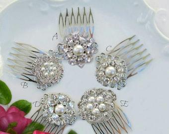 Set of 3, Small Hair Combs, Bridesmaid Hair clip, Bridesmaids Hair Accessories, Bridesmaids Gifts, Wedding Comb, Bridal Hair Clips