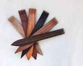 Hokett Wood Tapestry Beater.  Handmade Wooden Tapestry Weaving Comb. Small Weaving Fork. Lap Loom Weaving Tool. Exotic Wood Tapestry Beater.