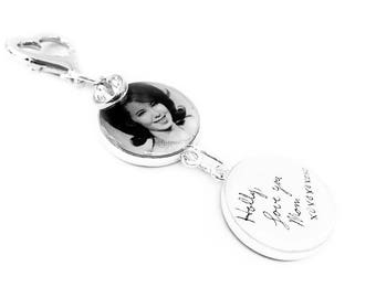 Handwriting Wedding Bouquet Charm, Personalized, Brooch, Bridal Gift, Memorial, Gift for Bride, Bridal Bouquet, Photo, Memory Charm, Brooch