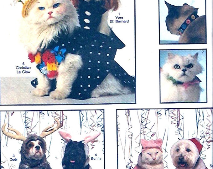 Dog Cat costumes Pets Halloween Party Christmas sewing pattern Simplicity 8938 UNCUT Size Small to LG