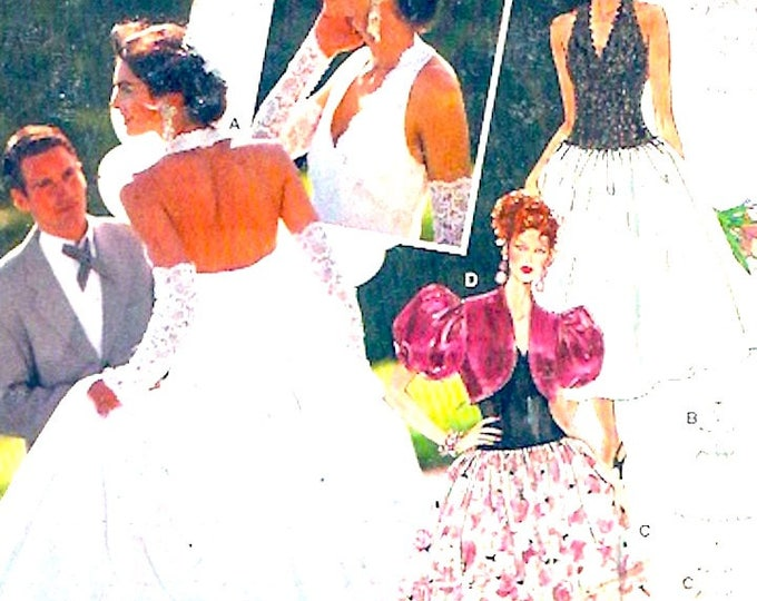 Halter Wedding dress Couture Ball gown party frock sewing pattern Grad prom evening wear Burda 4062 Size 8 to 18 UNCUT