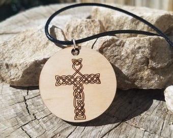 Celtic Knot Cross pendant Necklace