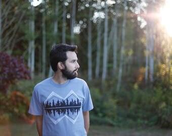Adventure Shirt, Screen Print Shirt, HEAVYWEIGHT Cotton T-Shirt, Unisex Clothing Gift, Made in USA, Blackbirdsupply, Crater Lake