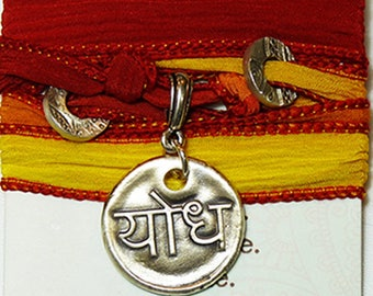 Sanskrit Yodha Warrior Silk Bracelet
