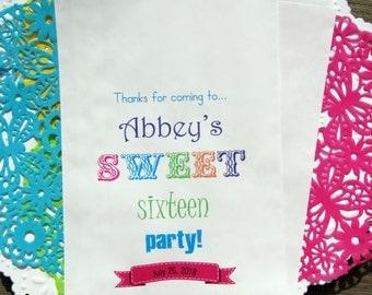 Sweet 16 Birthday    Sweet 16 Party   Sweet 16 Favor Bags   Sweet 16 Favors   Sweet 16 Bags   Sweet 16 Paper Bags   Sweet 16   Paper Bags