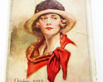 Vintage Magazine Modern Priscilla October 1923 Fashion Sewing and Knitting