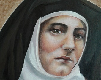 "Saint Teresa Benedicta of the Cross, Edith Stein, Martyr, 8""x10"" & 11""x14"" Prints on White Card Stock of my Acrylic Painting, Catholic Art,"