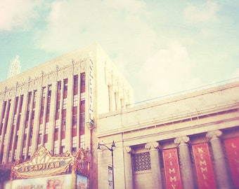 El Capitan theatre, Jimmy Kimmel studio, LA photography, Hollywood print, Los Angeles architecture, Jimmy & the Captain, California art