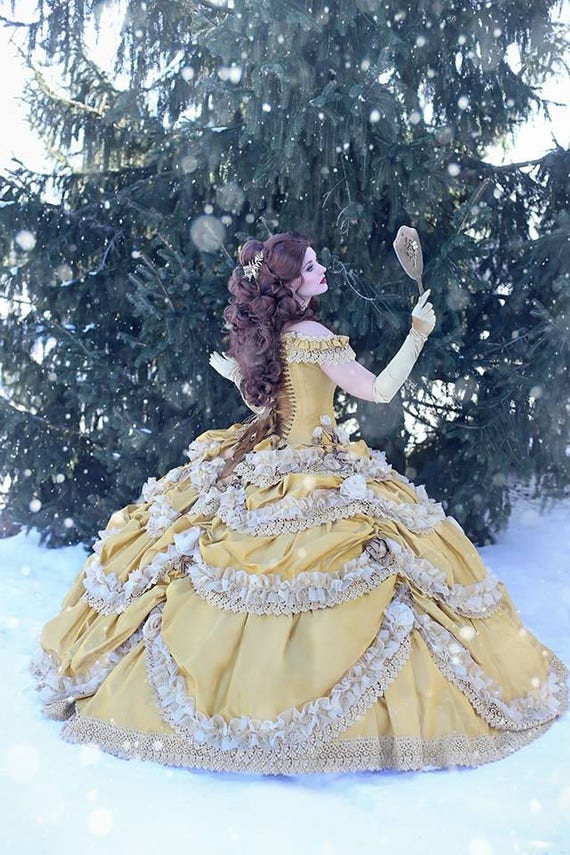 Beauty And The Beast Bridesmaid Dresses: Beauty And The Beast Wedding Dress Couture Belle Dress