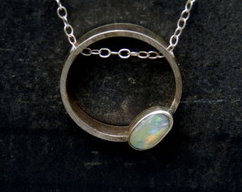 Australian boulder opal necklace / opal necklace / rainbow opal necklace / October birthstone / boulder opal jewelry / ready to ship jewelry