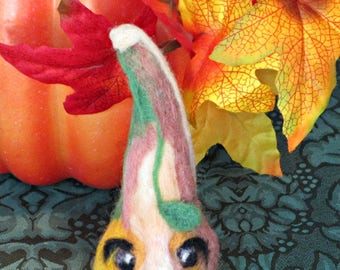 Ugly Face Gourd Needle Felted All Natural Wool Creationarts
