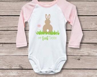 My First Easter Shirt, My First Easter, Easter Outfit, Baby's First Easter, First Easter Shirt, Bunny, Rabbit, Spring, First Easter Shirt