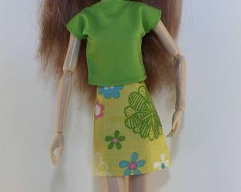 Handmade Pullip Blythe Momoko Skipper Moxie Dal type dolls Top Skirt P D Reneau Design (Q809)