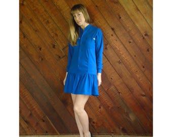 ESPRIT Jersey Knit l/s Mini Dress - Vintage 90s - XS/S