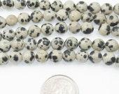 "Round Gemstone Beads-Dalmation Jasper 15"" Strand 6mm (60)"