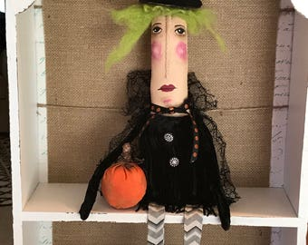 Primitive Art Doll....Witch