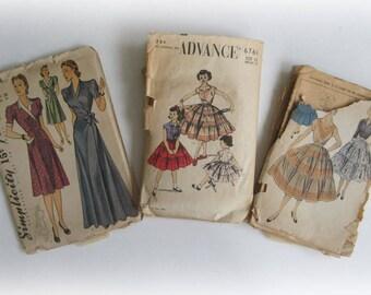 Vintage Old Sewing Patterns...Fun Ephemera!