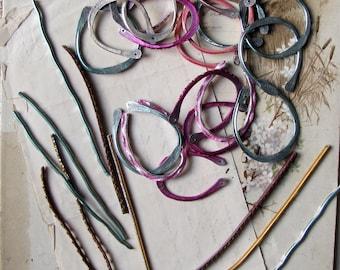 hoop earring findings - handmade hammered reclaimed metal - artsian made jewelry supplies