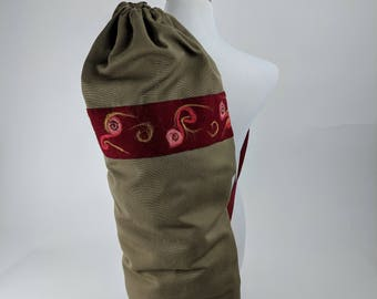 Yoga Mat Bag – OOAK, Yoga bag, Yoga Mat Tote, Pilates Mat Bag, Pilates Bag, Yoga Mat Holder, Yoga Mat Carrier, Women, Fitness Bag