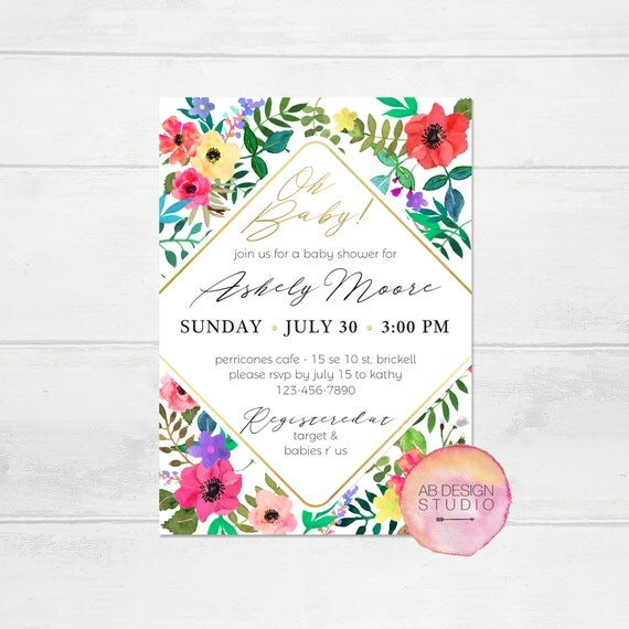 Garden baby shower invitation spring baby shower flowers il570xn filmwisefo