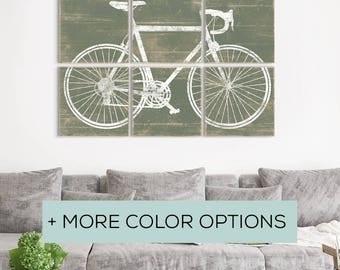 Bike Lovers Gifts - Best Bicycling Gift - Retro Bike Wall Art - Road Bike Art - Bike Wall Art Decor - Bike Artwork - Bicycle Lovers Gift