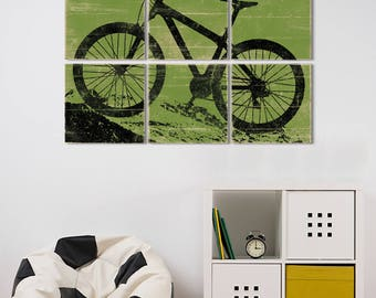 Mountain Bike Art - Mountain Bike Gift - Large Bike Wall Art - Gift for Cyclist - Gift Mountain Bike - Mountain Bike Print - Large Bike Art