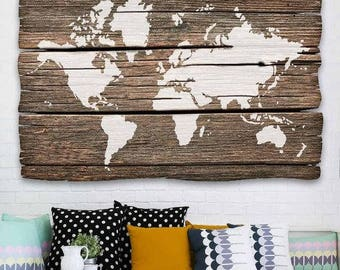 World Map Stencil Etsy CA - Giant us map stencil