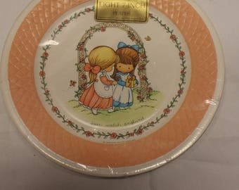 Vintage JOAN Walsh ANGLUND Hallmark Paper Party Plates~Sixteen 9 inch and Eight 7 Inch ~Sealed NOS