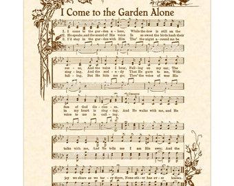 Hymn S I Walk In The Garden Alone Garden Ftempo