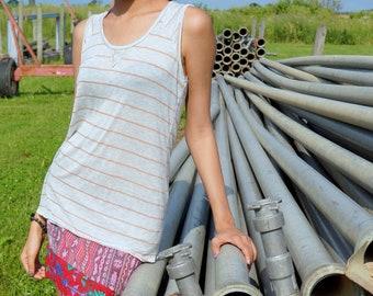 Cotton, striped tank top