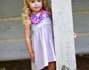 DRESS or CROPPED TOP- Watercolor- Toddler/Girls, crop top or dress