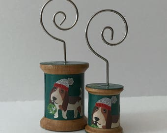 Holiday Basset Hound- Cool Spools