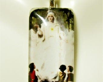 Our Lady of Fatima pendant with chain - GP12-603