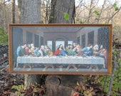 RESERVED Vintage Paint by Number Painting The Last Supper Craft Master 1964 Mid Century PBN Framed 1960's Religious Art