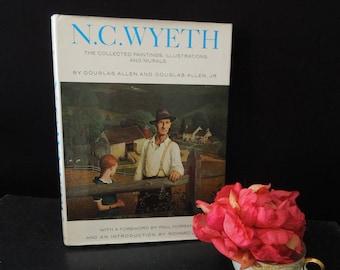 N. C. Wyeth Paintings Illustrations and Murals - Vintage Coffee Table Book - Douglas Allen - Art Paintings Sketches Book Illustrations