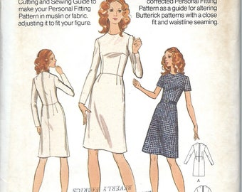 Beginner Sewing Personal Slim Fitting Shell with Jewel Neckline and Natural Waistline ,  Butterick Pattern No. 3002 - Bust 31 1/2