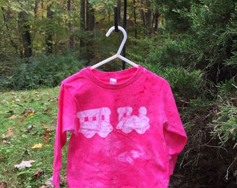 Kids Train Shirt, Pink Train Shirt, Girls Train Shirt, Boys Train Shirt, Train Christmas Gift, Long Sleeve Train Shirt (2T)