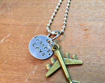 Tracer Overwatch Inspired Hand Stamped Pendant Gamer Pendant