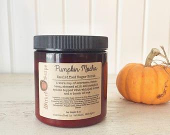 Pumpkin Mocha Emulsified Sugar Scrub - Sugar Scrub Body Polish