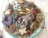 Mega Jewelry Destash Lot - 4 Pounds Vintage Modern Jewelry - Upcycle - Tribal - Gypsy - Rustic Shabby Chic -