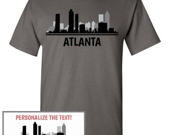 Atlanta skyline etsy for Atlanta custom t shirts